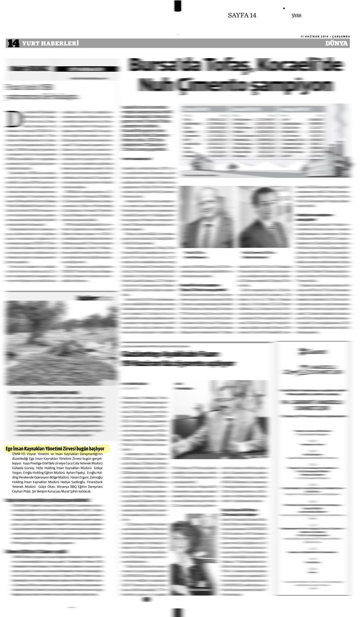 Dünya Gazetesi - 11.06.2014