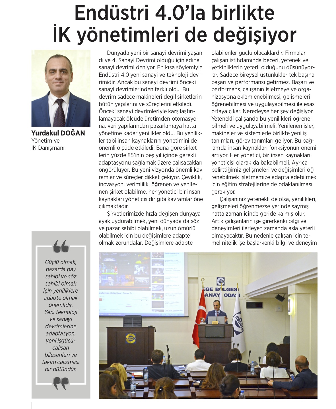 EBSO Dergisi Makale