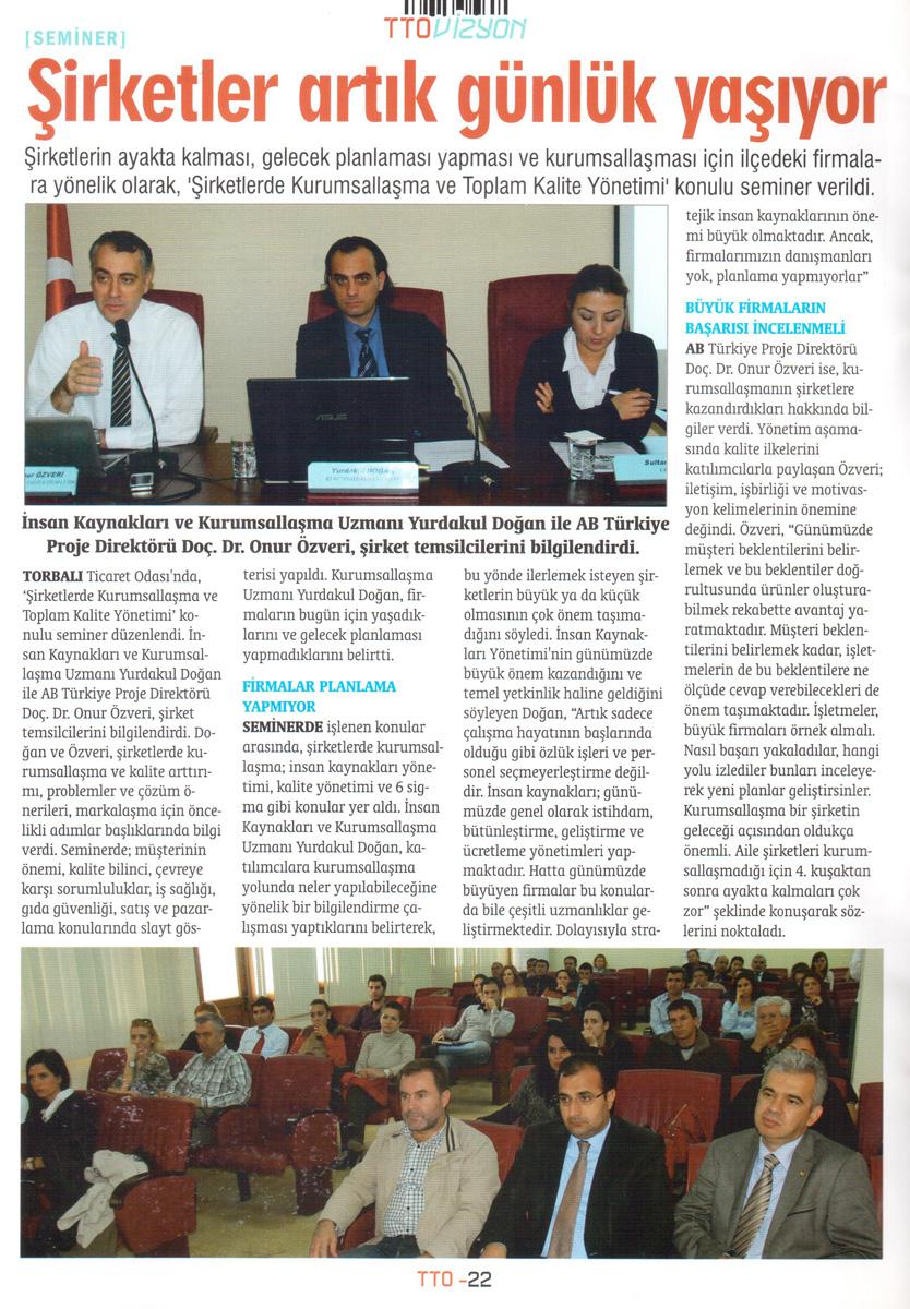 Torbalı Ticaret Odası - Haber 01.2013