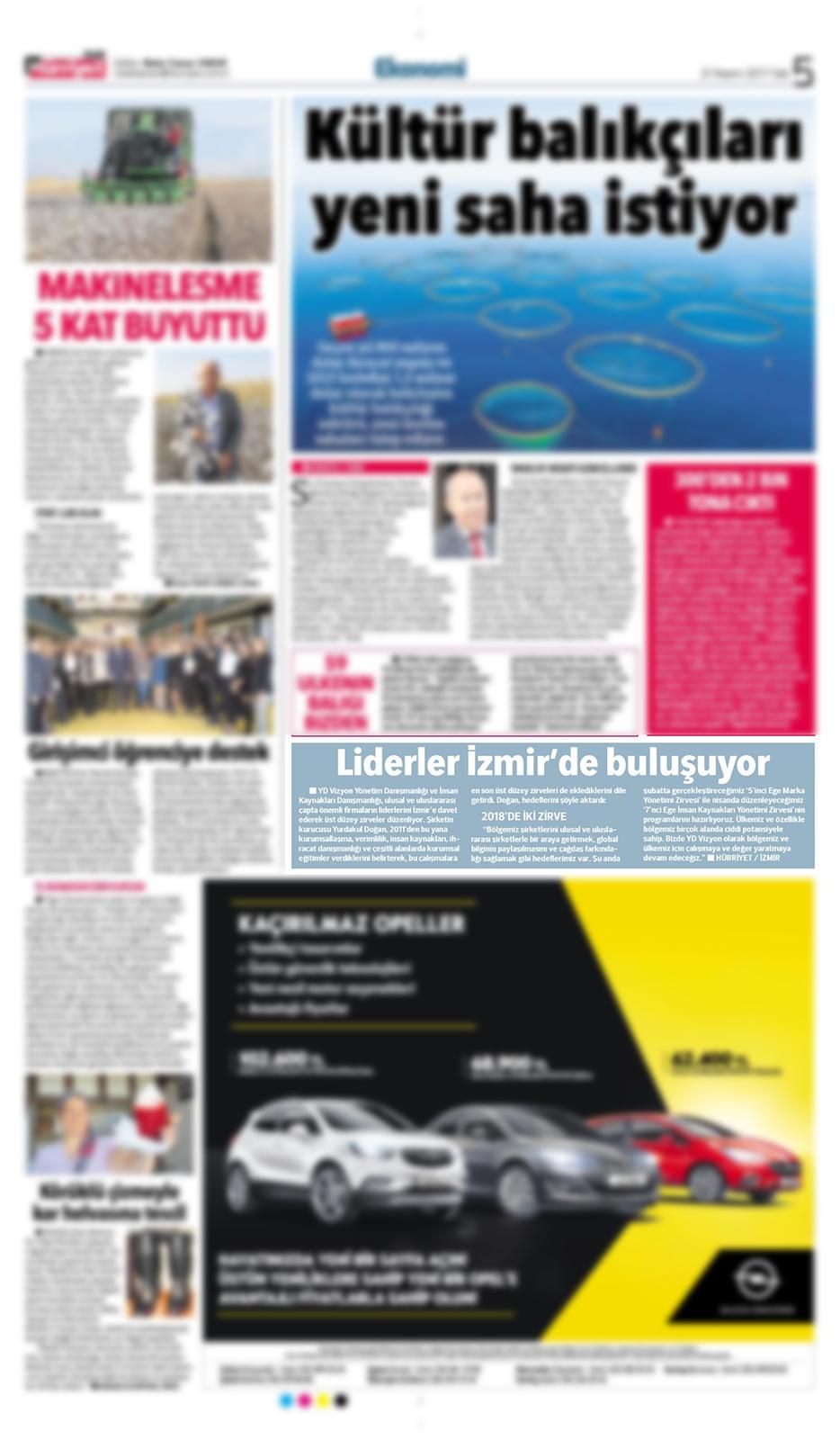 Hürriyet Ege - Röportaj - 21.11.2017