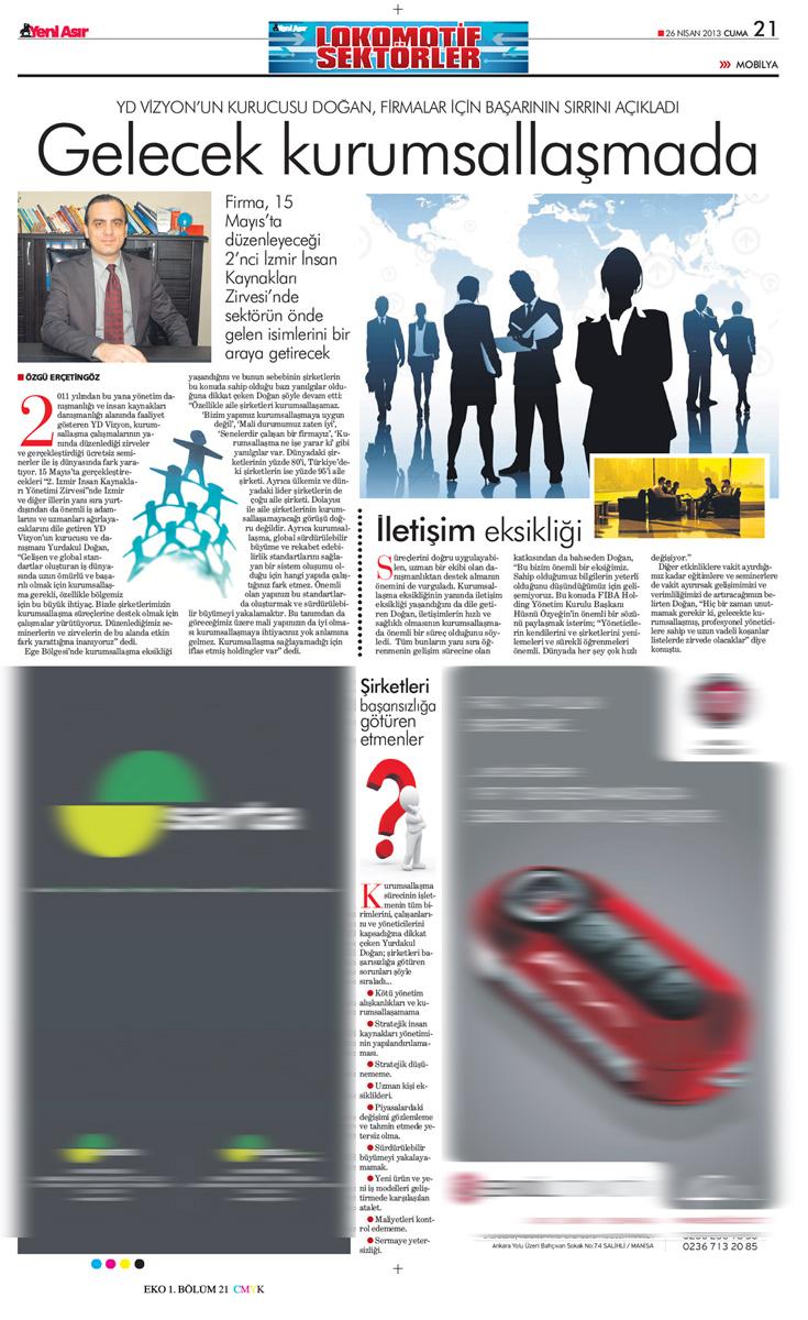 Yeni Asır - Röportaj - 26.04.2013